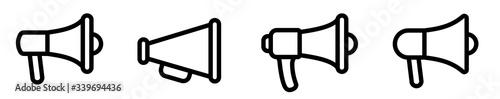 Valokuva Megaphone icon set