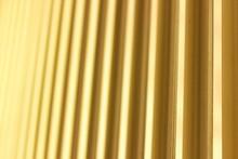 Full Frame Shot Of Yellow Corrugated Iron