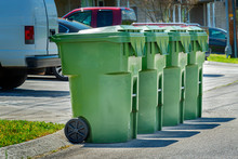 Four Residential Garbage Conta...