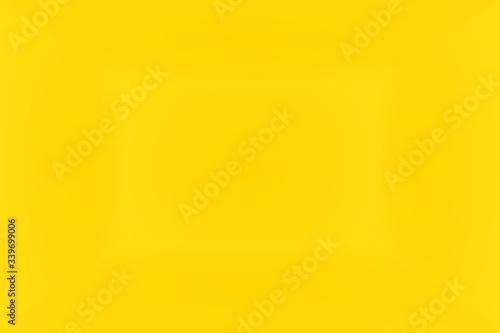 Fototapeta Abstract solid of shining yellow gradient studio wall room background. 3D Room. obraz