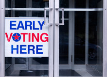Early Voting Here Sign America