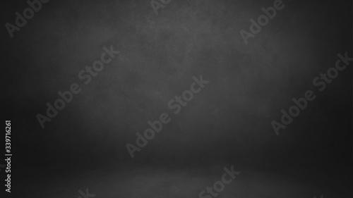 Gray dark backdrop studio background, wall and floor with texture Fotobehang