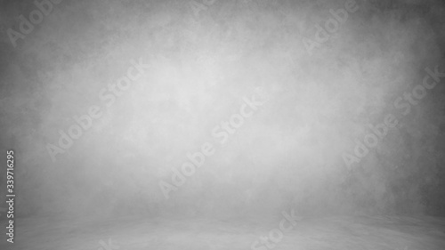 Fotomural Gray light background backdrop studio, wall and floor with texture