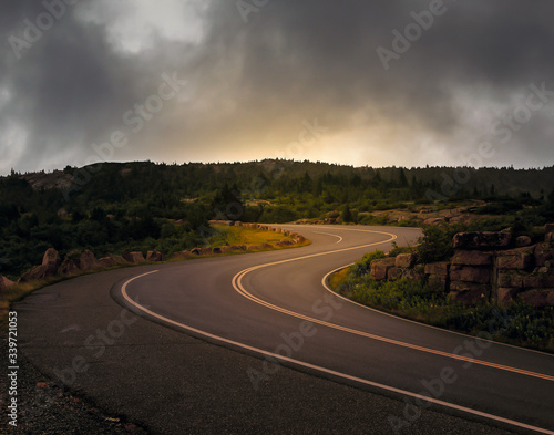 Photo Cadillac Mountain road in Acadia National Park