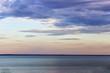Cloudy Sky Over Calm Sea