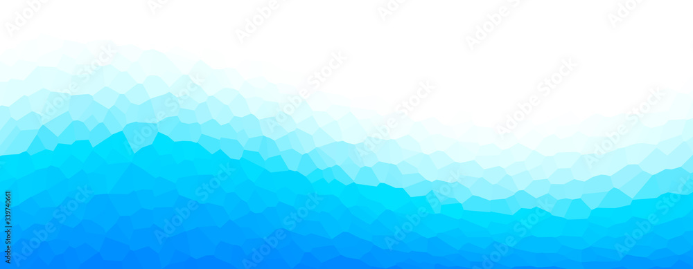 Fototapeta Geometric blue representing water, sea, beach, waves, ripples, ice, etc.  水、海、ビーチ、波、波紋、氷などを表現する幾何学的な青