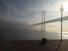 April 25th Bridge Over Tagus River Against Sky