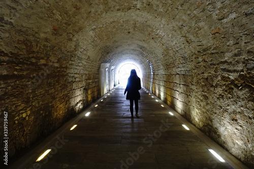 Fotografie, Tablou People Walking In Tunnel