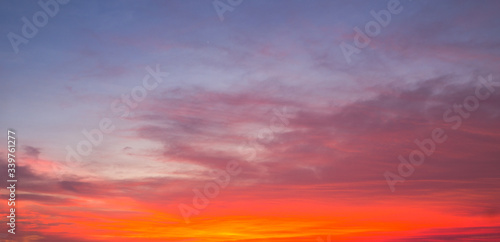 Fototapety, obrazy: Dusk sky, Evening colorful sky dramatic and wonderful.