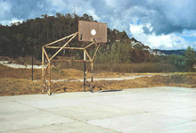 View Of Basketball Court In Field