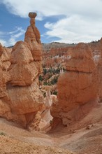 Rock Formations Against Sky At Bryce Canyon National Park