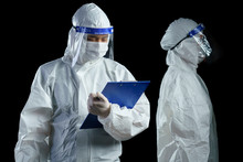 Doctor Wearing PPE And Face Sh...