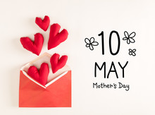 Mother's Day Message With Red ...