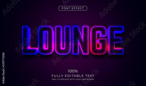 Fotografía 3d LED wall signage text effect. Editable font style
