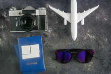 Airplane, Glasses, Vintage Cam...
