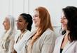 Women sitting in a row