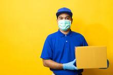 Delivery Man Blue Uniform Wear...