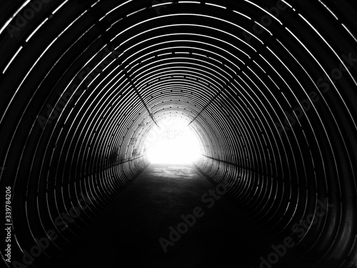 Canvas Print Light At The End Of The Tunnel