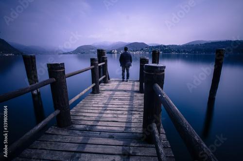 Fototapety, obrazy: People Walking On Pier