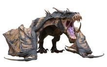 Fantasy Dragon Isolated On Whi...