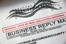 Closeup Of A Mail Ballot Envel...