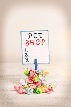 Handwriting Text Pet Shop. Con...