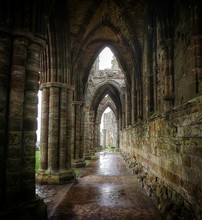 Empty Corridor Of Whitby Abbey