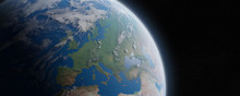 View Of Blue Planet Earth In S...
