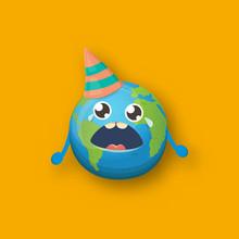 Cartoon Cute Crying Earth Plan...