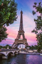 Eiffel Tower Against Sky During Sunset