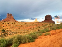 The East And West Mitten Buttes Of Monument Valley In Arizona-utah