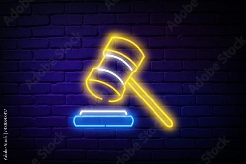 Obraz na płótnie court hammer icon