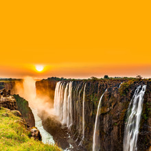 Sunset Over Victoria Falls Wit...