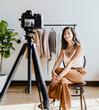 Influencer vlogging about fashion