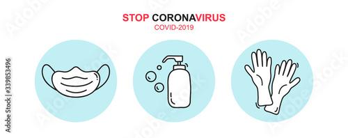 Photographie Stop coronavirus text icon