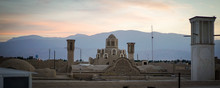 Sultan Amir Ahmad Bathhouse Rooftop In The City Of Kashan In Iran