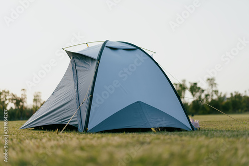 Fototapeta tent in park