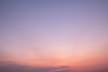 Purple Sky Background In Twilight Time