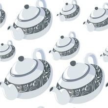 Classic Teapot With Lid, Handle And Ornamental Decor