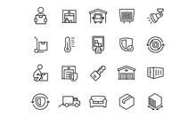 Self Storage Icons Vector Desi...