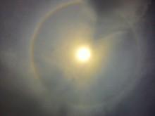 Low Angle View Of Sundog