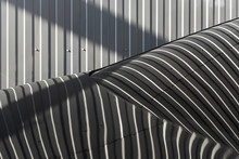 Striped Metal Texture And Refl...
