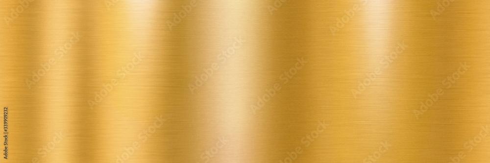 Fototapeta Golden brushed metal surface