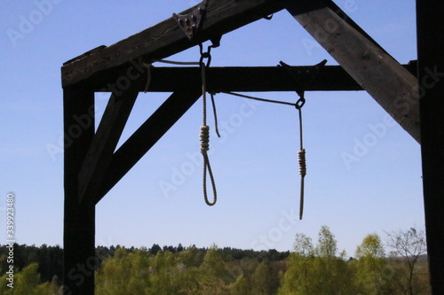Fotografie, Tablou Hanging Gallows Against Sky