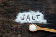 A Pile Of Salt From Salt Shake...