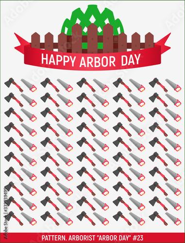 Vector. Arborist Arbor day #23 Wallpaper Mural