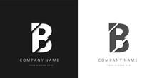 B Letter Modern Logo Broken De...