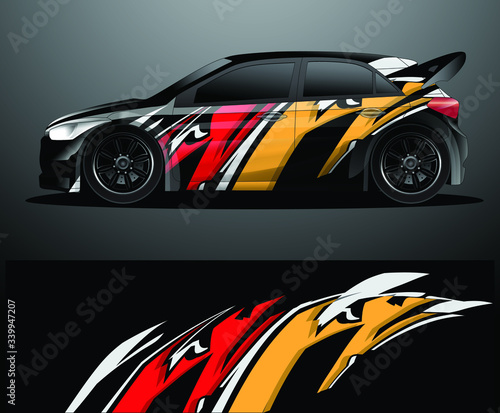 Plakaty motoryzacja   rally-car-decal-graphic-wrap-vector-abstract-background