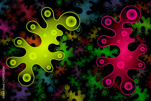 Synthetic Biology - Artificial Life - Abstract Illustration Wallpaper Mural