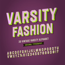 'Varsity Fashion' Vintage Retr...